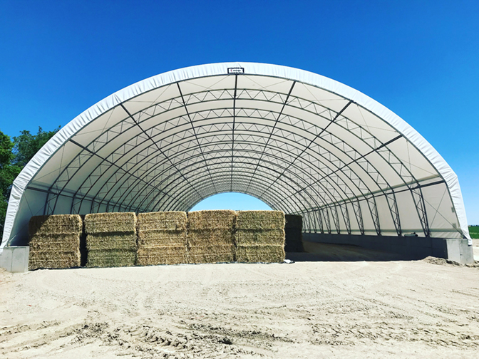 Hay Storage Building by Norseman Structures